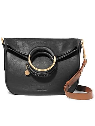 See By Chloé Monroe Medium Textured-leather Tote - Black
