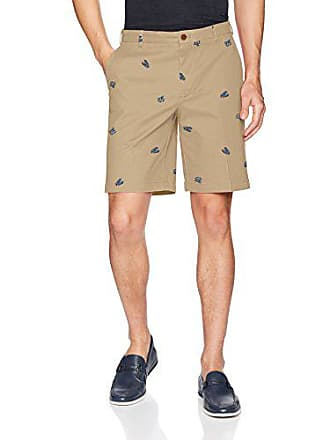 Izod Mens Saltwater Stretch 9.5 Printed Short, Cedarwood Khaki S2018, 33