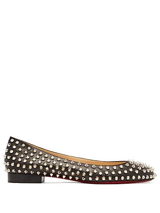 b34fcd84755 Christian Louboutin Babaspikes Silver Spike Leather Pumps - Womens - Black  Silver