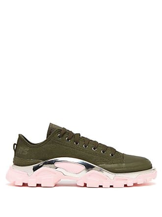 huge discount 32b6a 09f75 Raf Simons Detroit Runner Low Top Trainers - Womens - Green Multi