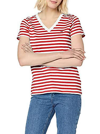 bb2f2fac98027 Tommy Jeans Hilfiger Denim Damen TJW Tommy Classics V-Neck Tee T-Shirt