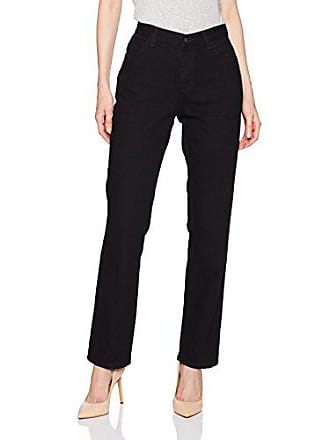 Lee Womens Missy Relaxed Fit All Cotton Straight Leg Jean, Black, 4 Short