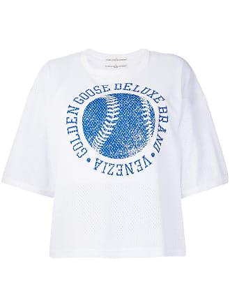 Golden Goose Camiseta com patch de logo - Branco