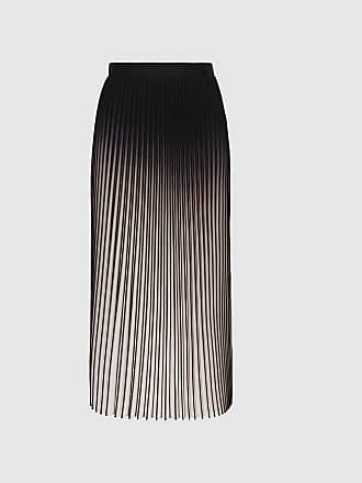 4a07f1832d Reiss Marlie - Ombre Pleated Midi Skirt in Neutral/black, Womens, Size 10