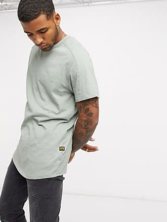 G-Star Originals - T-Shirt mit Logoetikett, in Khaki-Grün