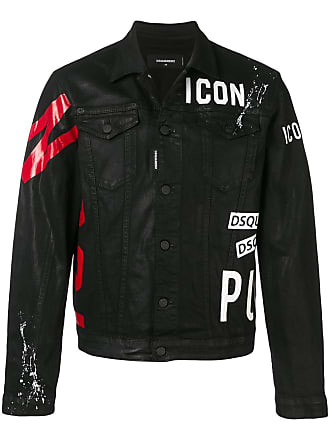 Dsquared2 logo print denim jacket - Black