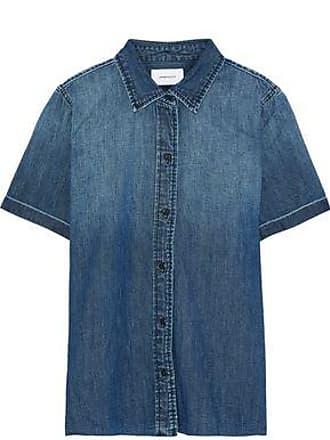 Current Elliott Current/elliott Woman The Lu Faded Denim Shirt Mid Denim Size 0