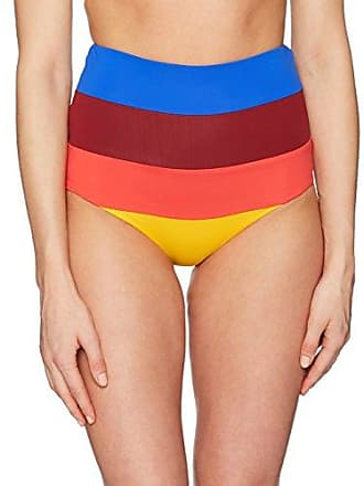 3056de4abd Mara Hoffman Womens Lydia High Waisted Bikini Bottom Swimsuit,  Colorblock/Multi, Small