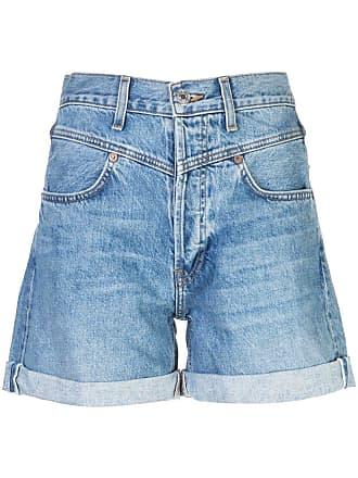 Re/Done Short jeans clássico - Azul