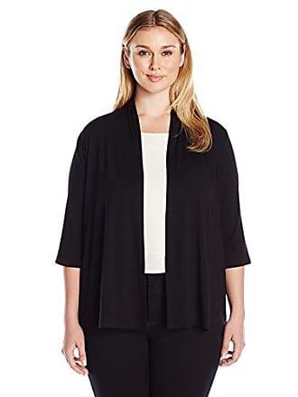Karen Kane Womens Plus Size Molly Cardigan, Black, 0X