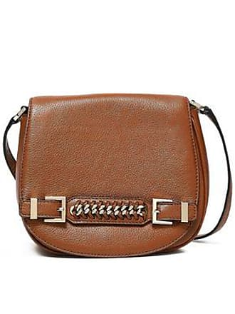 Diane Von Fürstenberg Diane Von Furstenberg Woman Chain-embellished Textured-leather Shoulder Bag Light Brown Size