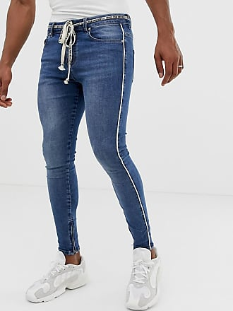 The Couture Club skinny jeans with rope belt - Blue