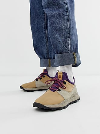 a6fd59f35d320 Timberland Brooklyn hiker trainers in beige ripstop