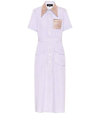 Rochas Embellished cotton shirt dress