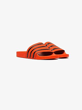 adidas orange Adilette rubber slides