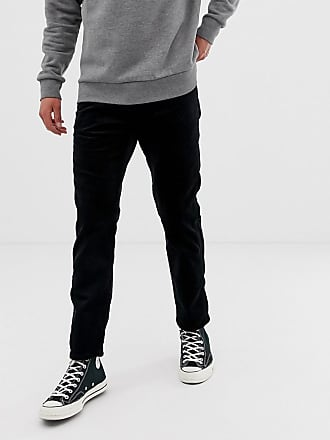 f0a4dd91 Wrangler slider regular tapered fit heavy cord trousers in black