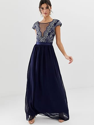 c7cbf0c5e0b6 City Goddess pleated maxi dress with embrodiered detail