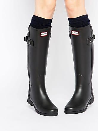 Hunter Original - Stivali da pioggia neri con cinturino posteriore - Nero 81656d27fc9