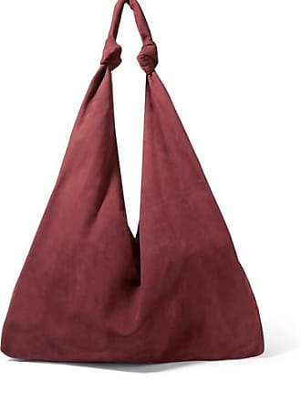 The Row Bindle Double Knots Nubuck Shoulder Bag - Burgundy