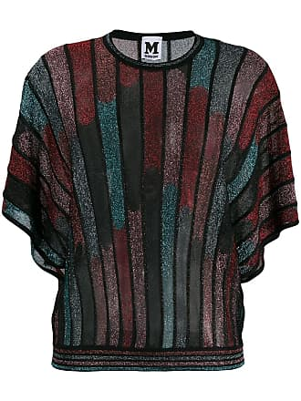 M Missoni knitted batwing sleeves top - Preto
