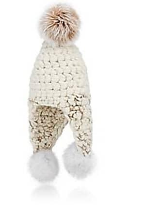 Mischa Lampert Womens Triple Trouble Wool Hat - White+Marble 89e48c7e2aad