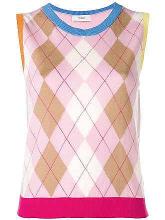 Pringle Of Scotland Colete Colour Block - Rosa