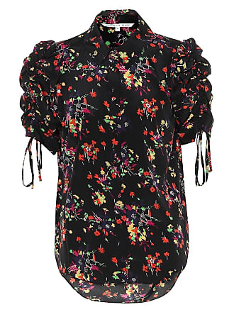 Veronica Beard Carmine floral stretch silk top