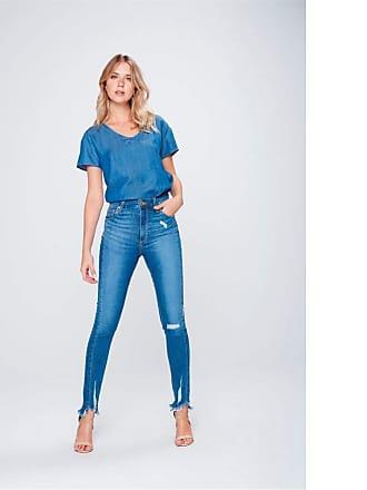 Feminino Calças Jeans De Cintura Alta  50 produtos com até −70 ... 127e5556297