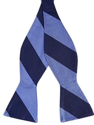 TND Basics Papillon da annodare in seta blu navy e blu pastello con motivo  a righe 823c1b86dc9e