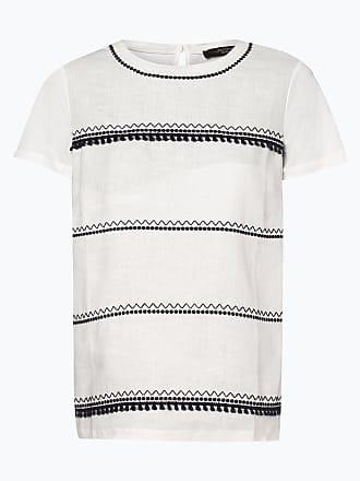 e7c072d06b5731 Weekend by Max Mara Damen T-Shirt mit Leinen-Anteil - Tecnico weiss