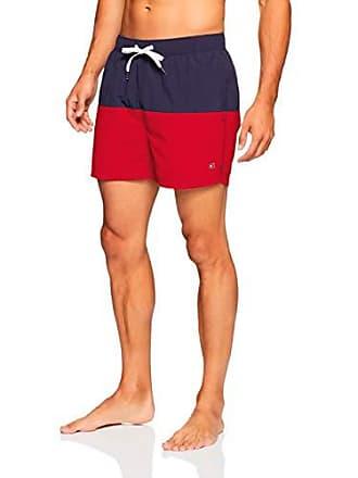 1230e4c88fec9 Tommy Hilfiger Mens Drawstring Swim Shorts, Navy Blazer/Red, LG