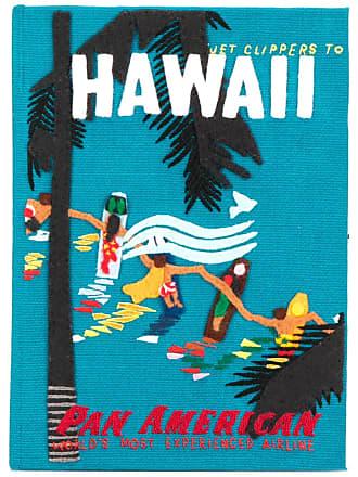 Olympia Le-Tan Clutch Hawaiian Surfers - Azul
