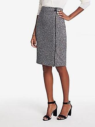 ANN TAYLOR Tweed Button Waist Pencil Skirt