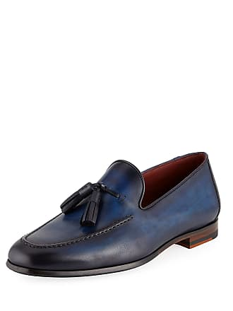 70b377e1975 Magnanni Mens Leather Slip-On Loafers with Tassels