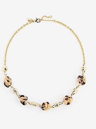 ANN TAYLOR Knotted Tortoiseshell Print Necklace