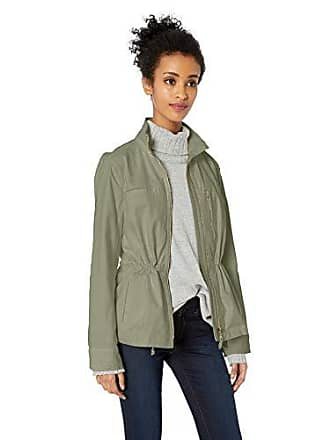 Daily Ritual Womens Military Cargo Jacket, Dusty Olive, 12