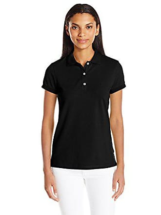 8e5a918db Nautica Womens Short Sleeve Stretch Solid Polo Shirt, True Black Small