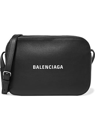 Balenciaga Everyday S Aj Printed Textured-leather Camera Bag - Black