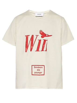 Rhude Win Printed Cotton T Shirt - Mens - Red White