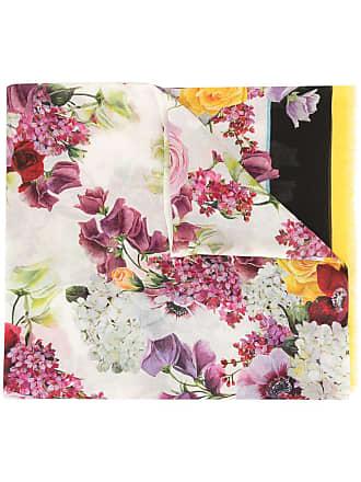 Dolce & Gabbana Hydrangea print scarf - Black