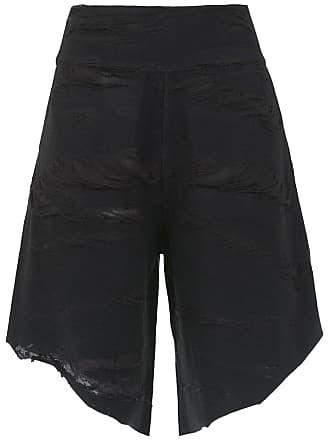Uma Cina destroyed shorts - Black