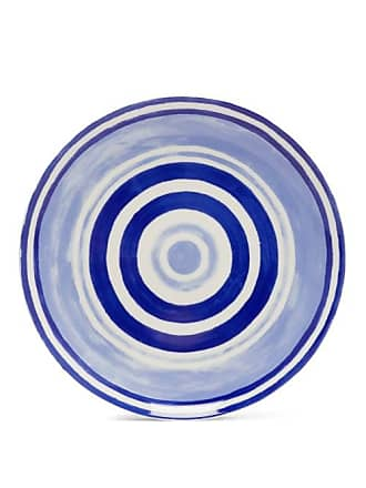 Themis.Z Themis Z - Maze Porcelain Dinner Plate - Blue Multi