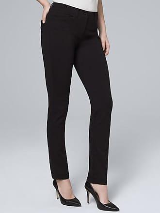 White House Black Market Womens Effortless Slim Pants by White House Black Market, Black, Size 00 - Regular