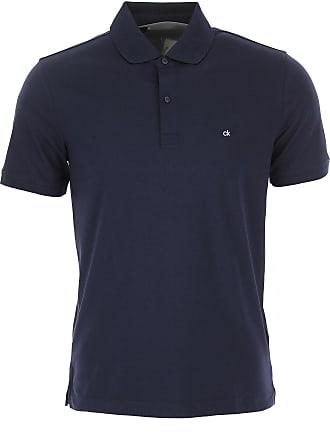 8748a11f Calvin Klein Polo Shirt for Men On Sale, navy, Cotton, 2017, M S