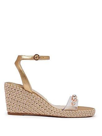 e6e2b6dada4 Sophia Webster Dina Embellished Espadrille Wedge Sandals - Womens - Gold