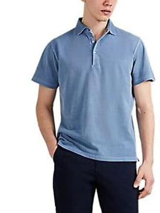 08174b56 Barneys New York Mens Washed Cotton Polo Shirt - Blue Size S