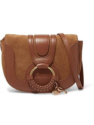 See By Chloé Hana Mini Textured-leather And Suede Shoulder Bag - Tan