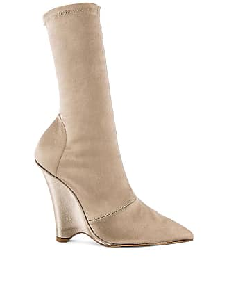 Yeezy by Kanye West SEASON 8 Stretch Satin Wedge Ankle Boot in Taupe