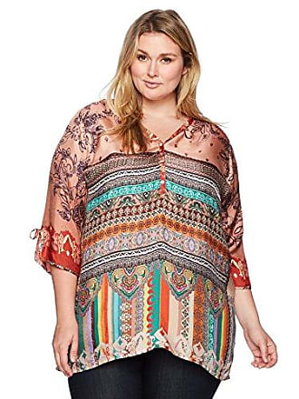 Johnny Was Womens Plus Size Cavalan A Blouse, Multi a, 2X