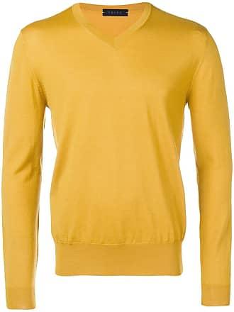 Falke v-neck lightweight jumper - Yellow